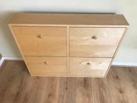 4 draw shoe cabinet