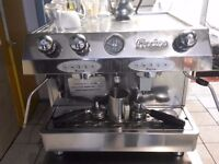 Fracino coffee Machine , Milk Jug And Water Treatment Unit, 12 coffee cup and plate