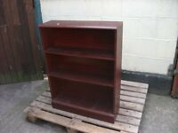 Book shelf dark wood three shelves delivery availble £10