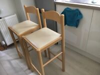 Folding new guest bed 130 at Argos plus 2 breakfast bar chairs