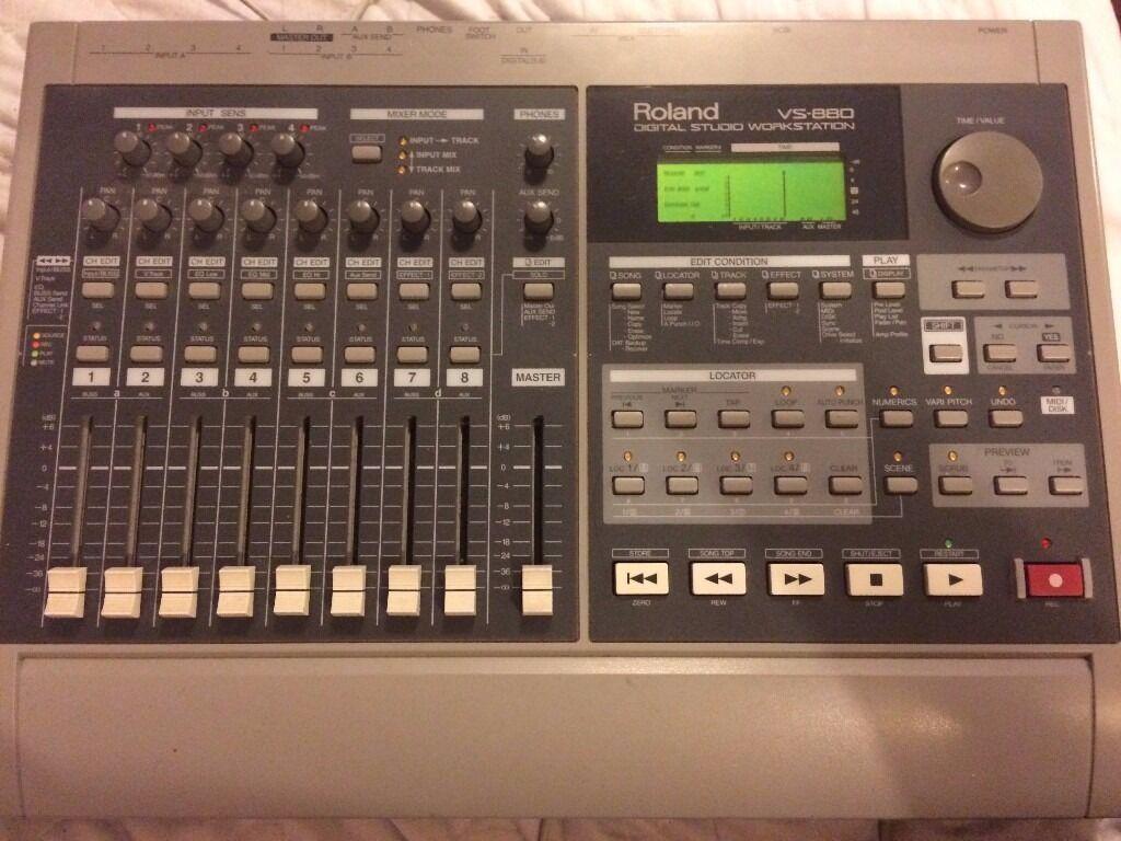 roland vs 880 digital audio workstation hardware vintage multi track recorder in butetown. Black Bedroom Furniture Sets. Home Design Ideas
