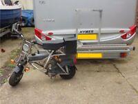 Custom-made motorbike/bicycle trailer