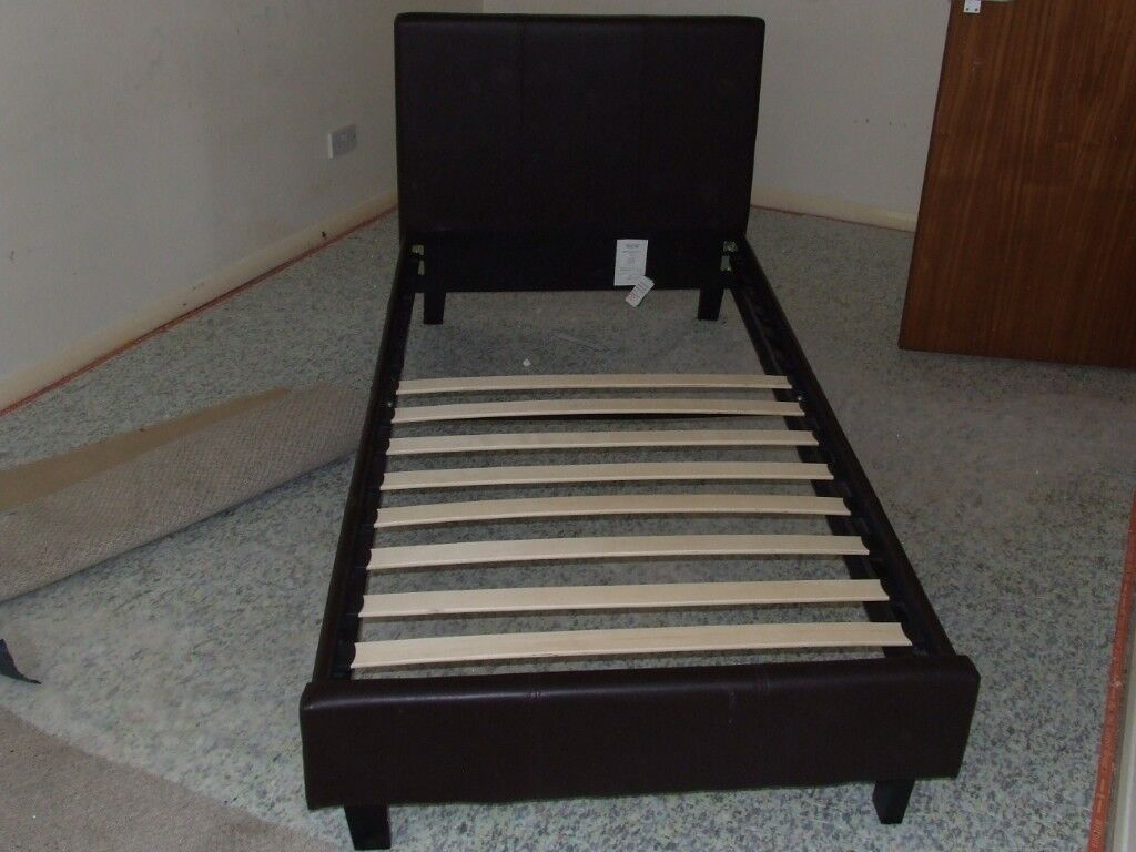 Wooden Frame Single Bed Bolts Together With Slats See Photo In