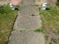 3x2 paving slabs, older type.