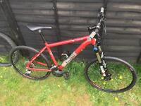 Voodoo mountain bike (18inch Frame). Two sets of tyres