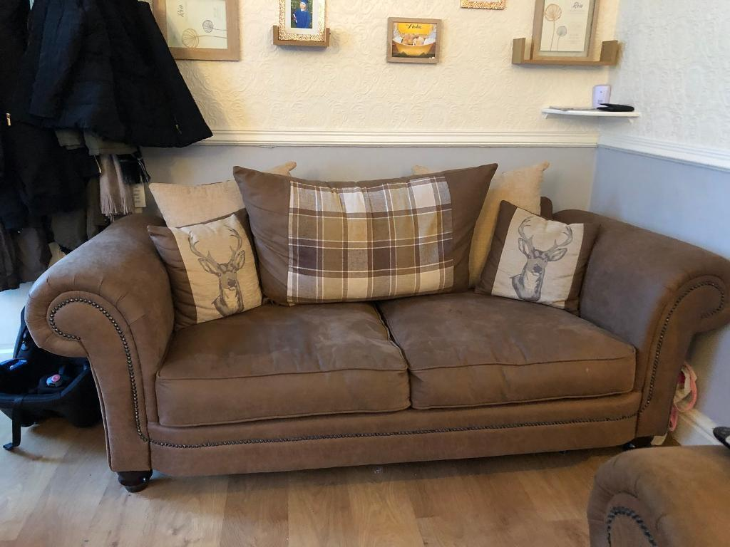Scs Sofa Abbey Range 3 Seater Scatter Back 6 Months Old