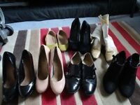7 PAIRS OF LADIES SHOES FOUR PAIRS OF SIZE 7 ONE PAIR SIZE 6 & TWO PAIRS SIZE 3