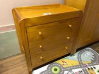 Mamas and papas nursery furniture. Wardrobe, drawers, cot, feeding chair.