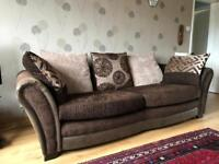 Fabric & leather sofa in beautiful condition