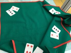 Embossed card players table cloth