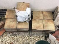 Job Lot of 250+ Used Floor Wall Tiles 20cm x 20cm / 10 Square Metres