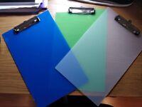 Set of (18) Multi-Coloured Clipboards