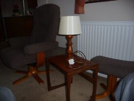 Pine Table Lamp with shade - very good condition