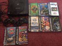 Sega Saturn console and games bundle