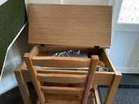 Study or office chair and table