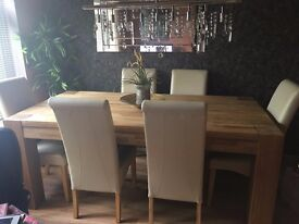 solid oak dining table (phone number corrected)