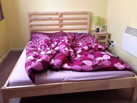 Wooden double bed- urgent!!! must go sunday