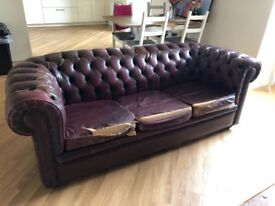 SOLD: Chesterfield Sofa