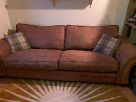 DFS 4 seater sofa and footstool