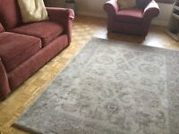 Large rug approx 7ft x5ft good clean condition, also selling sofa and chair in pics