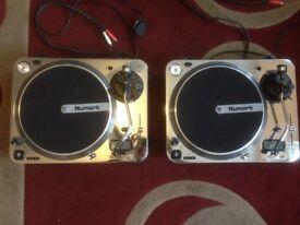 2x Newmark TT1* Original Direct Drive Turntables with Digital Display.