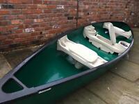 Deluxe 3-man Canadian Canoe