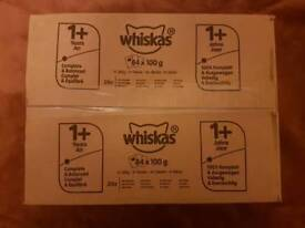 Whiskas 1+ Cat Pouches Mixed Selection in Jelly 84x100g (8.4kg) BNIB & Sealed