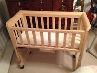 Good condition. Can be used as a separate cot or as a co-sleeper.