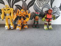 Tennage mutant turtles and transformers large figures