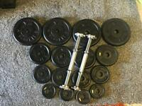 40KG METAL DUMBBELL SET