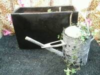 Glazed garden pot