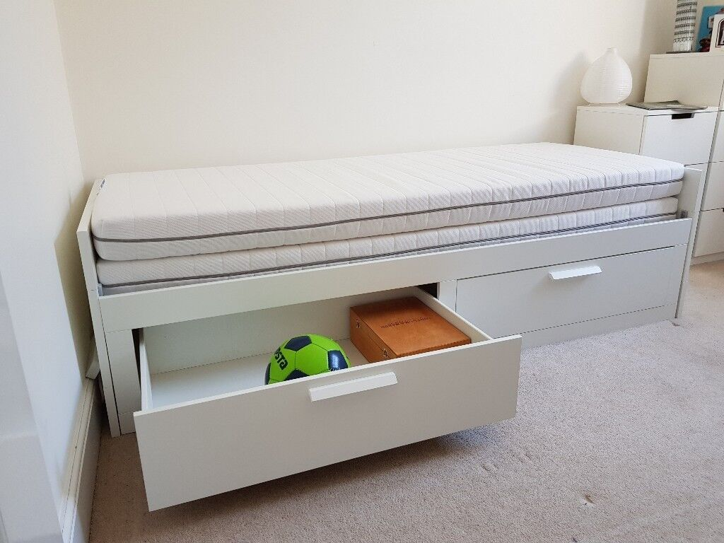 Ikea Day Bed Frame Mattress Extends To Double Bed In Ealing