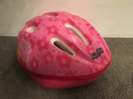 Childs Peppa Pig Bicycle Helmet (As New Condition)