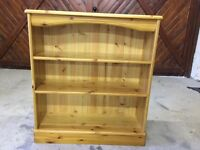 3 Shelf Pine Bookcase