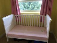 Sledge cot bed white