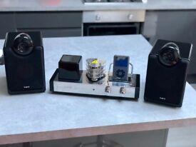Logic 3 Valve80 Valve Amplifier with iPod Dock and speakers