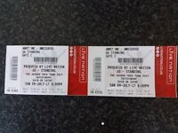 2 x U2 Standing Tickets - Twickenham Stadium - Sunday July 9th 2017