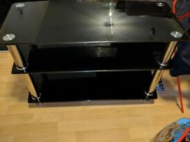 Tempered Glass TV Stand.