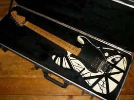 USA GMW Guitars EVH Stratocaster with Dan Lawrence finish signed EVH Frankenstein relic humbucker