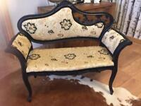Ornate Louis style double seat
