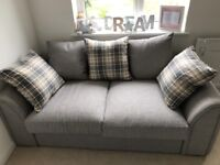 Double sofa bed - as new in perfect condition. Only used once. Folds out to make double bed.