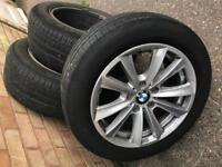 Bmw F10-F11 alloy wheels with good pirreli tyres for sale. One for £60, two for £100