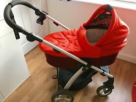 Sola2 mamas and papas red pushchair