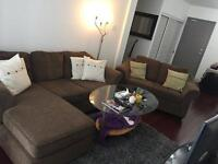 3-piece sofa chair, love seat, and corner couch set