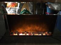 Electric fire - mirror surround / wall mounting