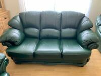 Leather sofa 3+1+1