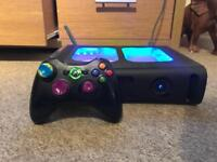 Custom Xbox 360 2 controllers and loads of games