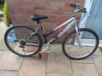 ladies raleigh mountain bike 16inch frame with lock £45.00