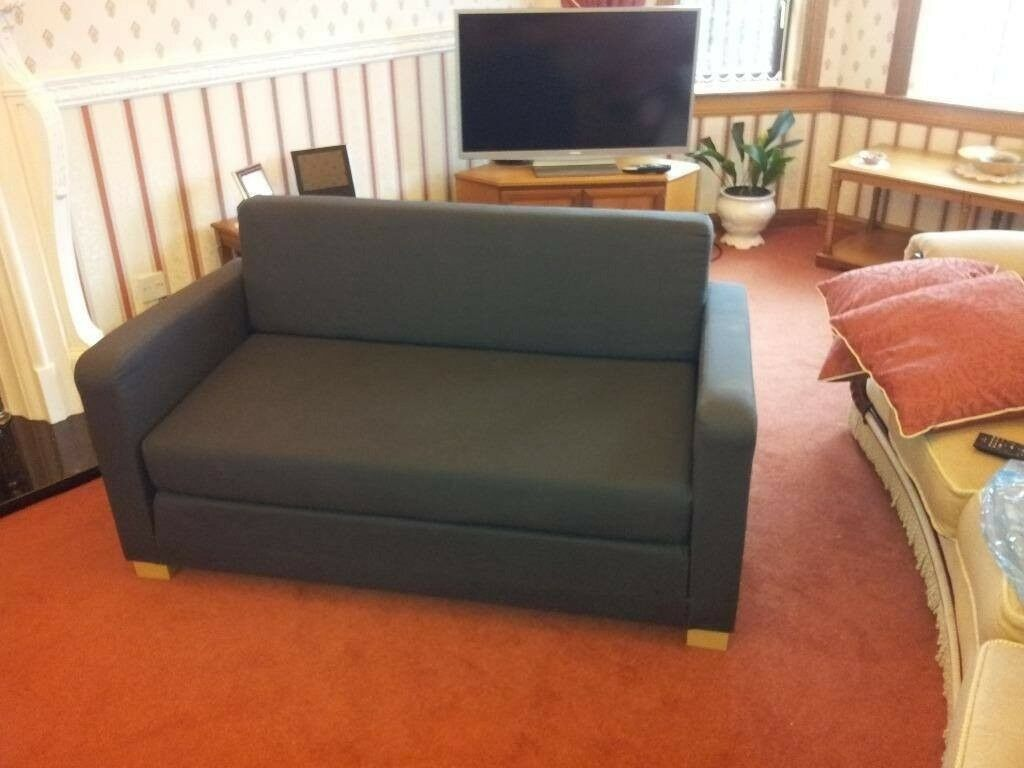 Grey ikea ullvi sofa bed, small double bed, CAN DELIVER ...