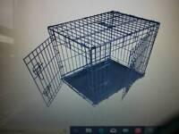 Folding dog puppy cage